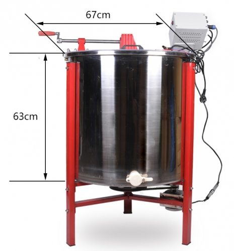 Multi function 3 Frame honey extractor